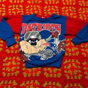 Vintage 90's Taz Patriots sweatshirt
